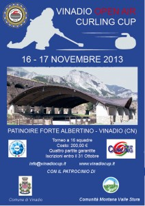 Volantino Vinadio Open Air Curling Cup 2013 (fronte)